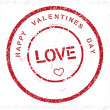 Grunge Happy Valentines Day stamp — Stock Vector