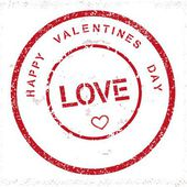 Grunge Happy Valentines Day stamp — Wektor stockowy