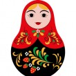 Set of 3 cute russian dolls matryoshka — Stock Vector #38218833