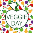 Stock Vector: Veggie Day button