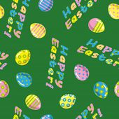 Seamless easter eggs pattern — Stock Vector