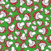 Cute mushrooms seamless pattern — Stock Vector