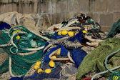 Filet de pêche sur le quai — Stock Photo