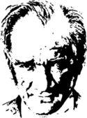 Ataturk portrait — Stock Vector