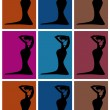 Stock Vector: Pop art. Woman dancing