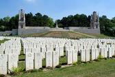 War 14-18. British cemetery of Étaples. France — Stock Photo