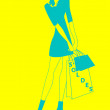 Vector de stock : Womdoing shopping