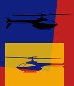 Pop art. helicopter — Stock vektor