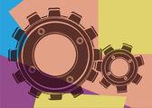 Pop art. Gear — Stock Vector