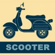 Pop art. Scooter — Vector de stock #36241617