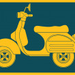 Pop art. Scooter — Vector de stock #36241685
