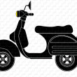 Pop art. Scooter — Vector de stock #36241839