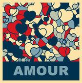 Pop art. Hearts — Stock Vector