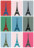 Pop art. Eiffel Tower — Stock Vector