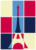 Pop art. Eiffel Tower — Stock Vector