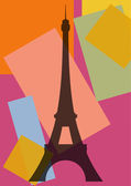 Pop art. Eiffel Tower — Vector de stock