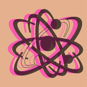 Pop art. Nuclear energy — Stock Vector
