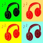 Pop art. Headphone — Stock Vector