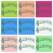 Pop art. Musical notes — Stock Vector