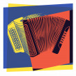 Pop art. Accordion — Vector de stock #36323731