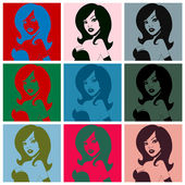 Pop art. Busty woman — Stock Vector