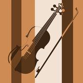 Violin. Pop art — Stock Vector
