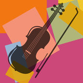Violin. Pop art — Stock Vector