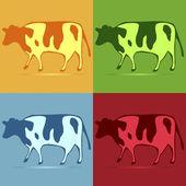 Cow pop art — Stock Vector
