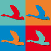 Flight of a wild goose. Pop art — 图库矢量图片