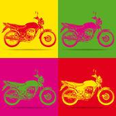Motorbike pop art — Stock Vector