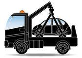 Caminhão de reboque — Vetor de Stock