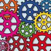 Gears pop art — Stock Vector