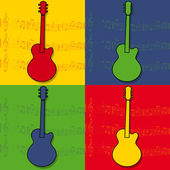 Guitar pop art — Stock Vector