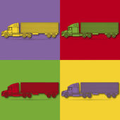 Truck pop art — Stock Vector