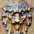 Devil on the front door, church of Hesdin,France — Stock Photo