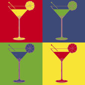 Cocktail pop art — Stock Vector