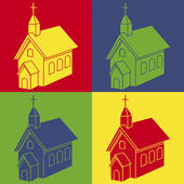 Church pop art — Stock Vector