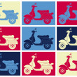 Постер, плакат: Scooter pop art Inspiration from Andy Warhol