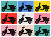 Scooter pop art.Inspiration from Andy Warhol — Stock Vector