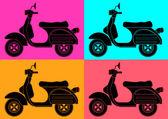 Pop art.inspiration skuter z andy warhol — Wektor stockowy