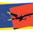 Pop art. Plane — Vector de stock #37593503