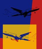 Pop art. avion — Vecteur