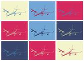Pop art. Plane — Stock Vector