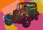 Vintage car pop art — Stock Vector