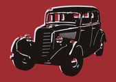 Carro vintage pop art — Vetor de Stock