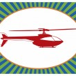 Pop art. Helicopter — Vector de stock #37753433