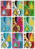 Christmas tree. Pop art — Stock Vector