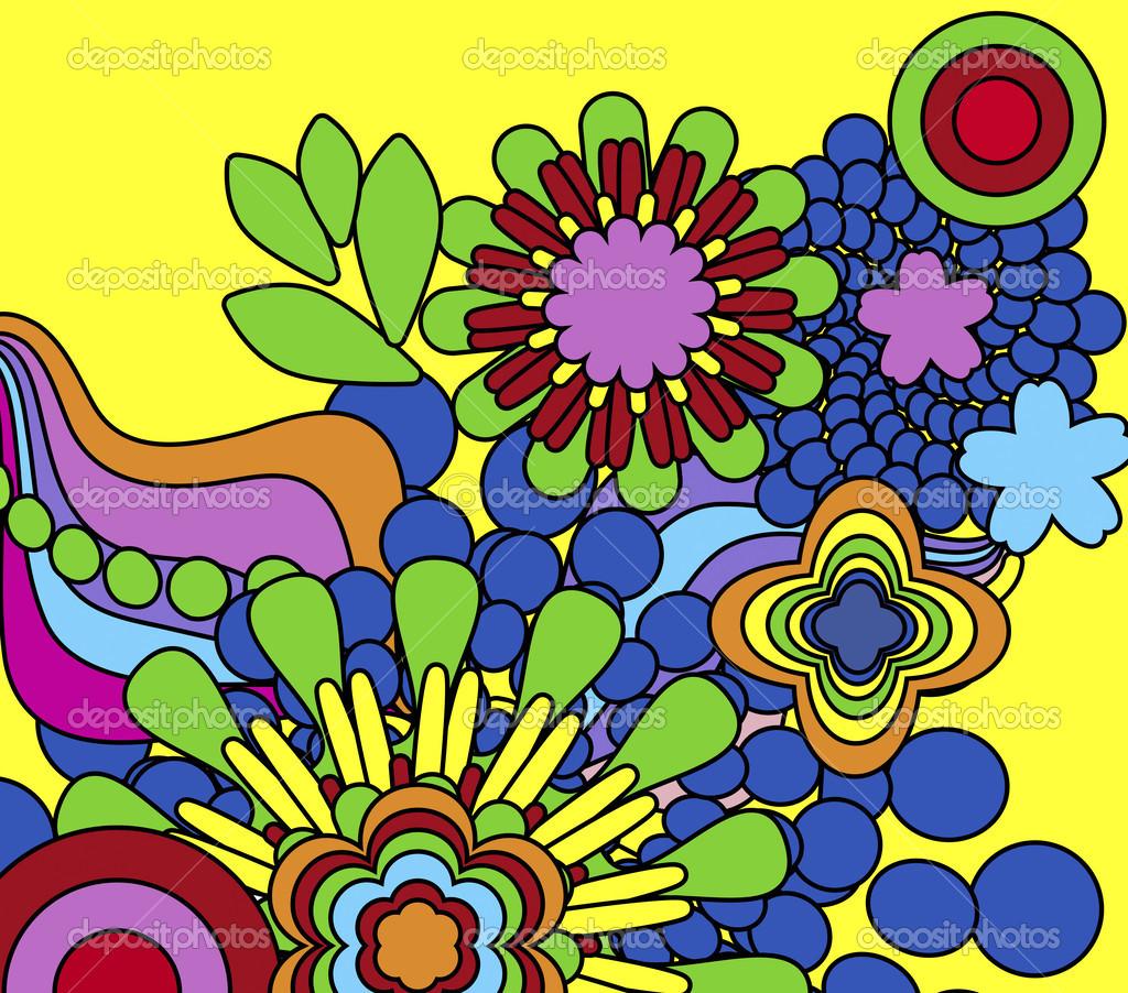 fiori psichedelici foto stock 37908667
