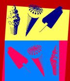 Ice cream. Pop art — Vettoriale Stock