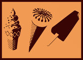 Ice cream. Pop art — Stockvector